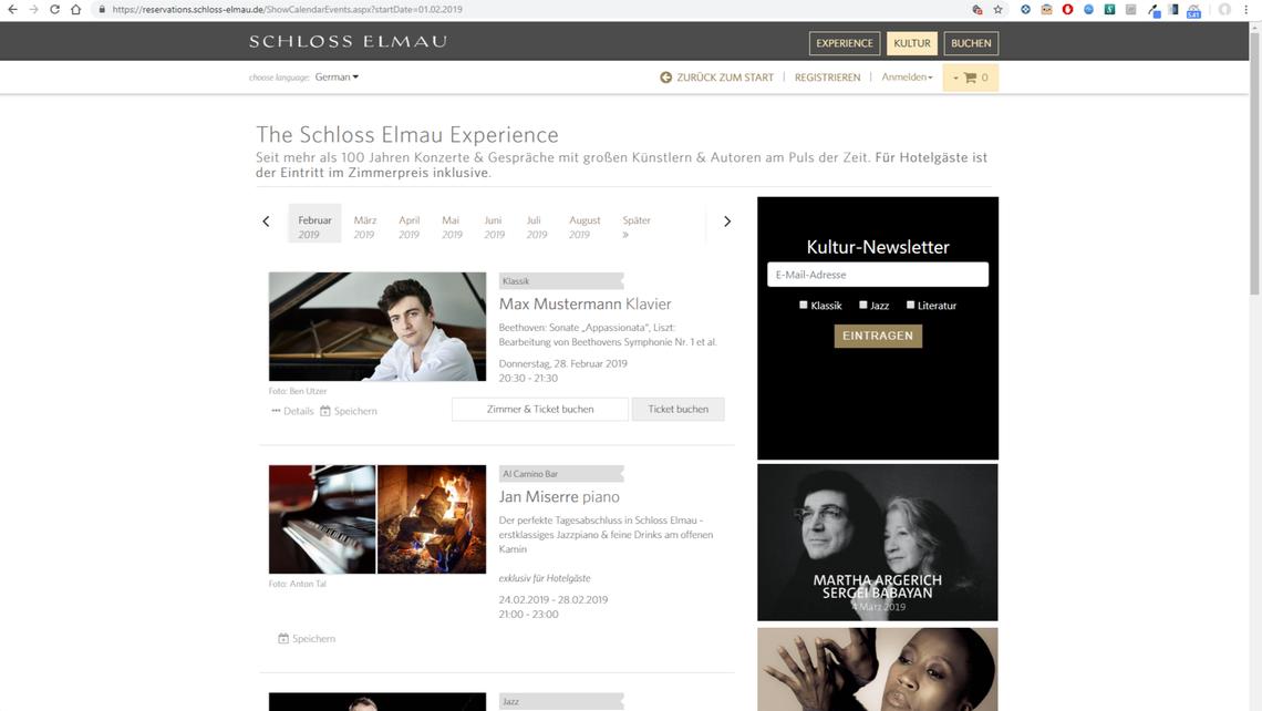 Auf der Website