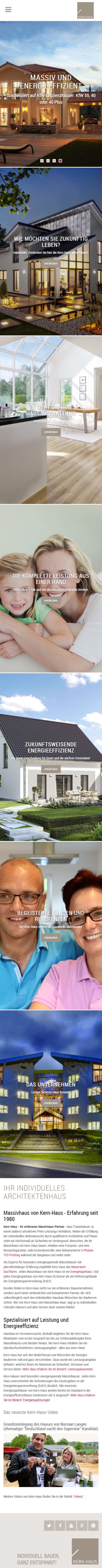 Kern-Haus: Website Relaunch: Ideensuche für das Traumhaus ...